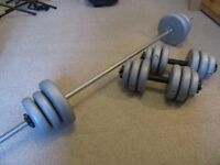 Barbell & Dumbbell weight set