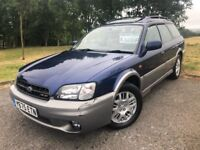 2001 Y SUBARU LEGACY OUTBACK 3.0 H6 AUTOMATIC 4WD - FULL CREAM LEATHER INTERIOR - GOOD EXAMPLE!