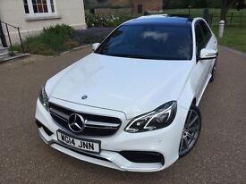 Mercedes E63 White Panoramic Bi-Turbo 5.5 AMG Sports FSH, HPI CLR, VAT QUALIFYING, VAT FREE EXPORT