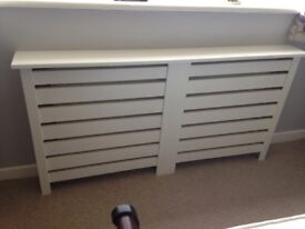 White MDF radiator covers (x4) in good condition