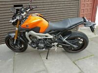 YAMAHA MT-09 ABS YEAR 2015 FROM COOPERIZED FELTHAM TW13 4PA