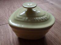 Le Creuset Yellow small lidded heart shaped pot
