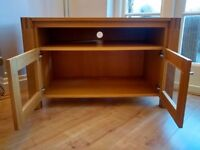 Solid oak tv display and storage cabinet