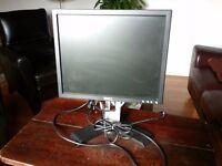 "DELL Computer LCD 17"" TFT PC Monitor Screen Black"