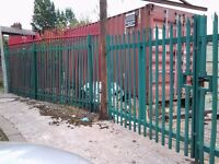 20ft storage containers in secure yard for rent