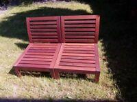 Wooden garden chairs (Ikea) x2