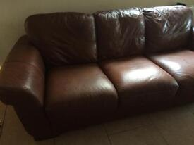 Four seater leather sofa