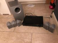 Complete 5.1 surround sound system