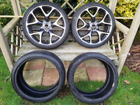 "Details about 2x Genuine New Vauxhall Astra 20"" VXR Alloy Wheels 13312755 with 2 New tyres."