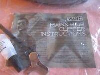 Wahl hair clipper/trimmer set with attachments and case for hair, beard etc