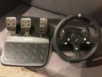 Logitech G920 wheel and paddles