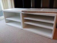 Ikea TV bench cabinet Besta white 120cm wide - mint condition