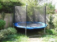 10ft Diameter Trampoline -- good condition with safety net and cover for springs