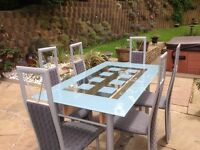 Glass Dining Table Chairs