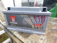 CAR BATTERY AS NEW YUASA 12v 800 amp COST £120