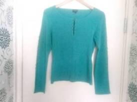 karen Millen turquoise top size 14