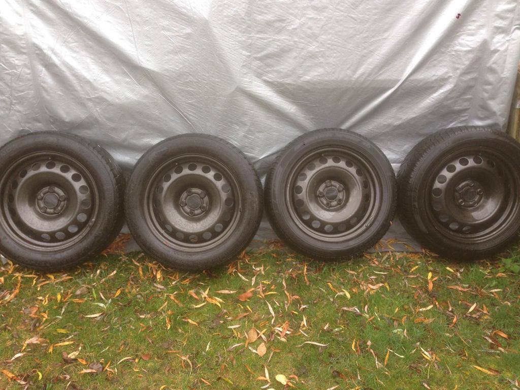 Winter tyres and wheels Audi Volkswagen 205 55 16