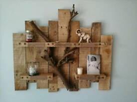 Rustic branch shelf