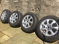 FOUR 235 65 R17 Vredestein Wintrac Xtreme Winter Tyres with Audi Alloys
