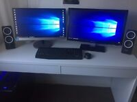 Gaming PC - Complete Package with 2 Monitors