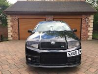 1 OWNER FULL HISTORY SKODA FABIA VRS PD130 TURBO DIESEL BLACK 2006