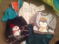 Baby boy bundle including xmas suits and jumpers !