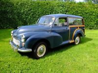 1969 Morris Traveller, Oxford Blue, back on the road after 15 years in storage.