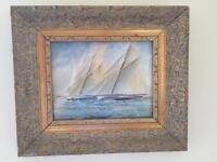 2 small water colours by F Burgess painted in 1919