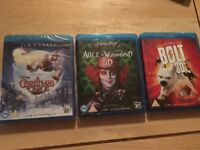 Collection of Blu-ray DVDs