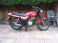 shineray xy125 125cc 125 cc , fully serviced, 12 months mot, low mileage