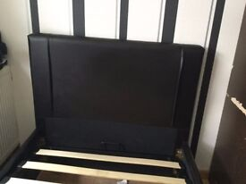 SINGLE LEATHER STORAGE BED MINT QUICK SALE OVNO!!!