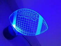3D LED COLOUR CHANGING LAMP ~ RUGBY BALL ~ REMOTE ~ USB CHARGE ~ EX. COND ~ £5