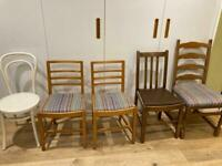 Selection of dining chairs various prices
