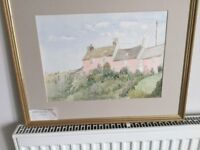 Original Framed Watercolour by local artist Patricia M Howles - Aber Castle Dyfed