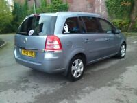 2008 VAUXHALL ZAFIRA 7 SEATER TAXED AND MOT