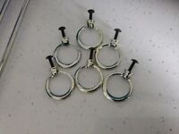ORIGINAL 6 x METAL RING HANDLES - STAG MINSTREL BEDROOM FURNITURE £12