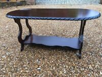 Excellent reproduction mahogany coffee table