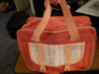 Orange Zipped Bag