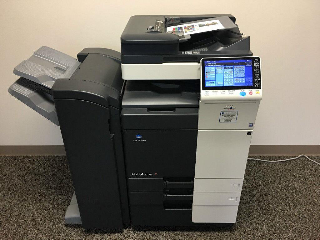 Konica Minolta Bizhub C284e Color Laser Copier Printer Scanner Air Print From Mobile Or Tablet