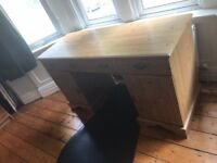 Office Desk Excellent Condition, 3 drawers 2 cupboards with shelf inside