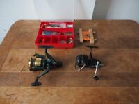 John Wilson & Garcia Mitchell Fishing Reels and Tackle Box