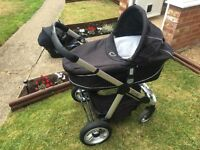 iCandy pram, pushchair and maxi cosi car seat