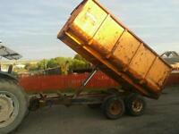 Weeks tractor tandem axle braked tipping trailer