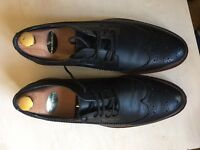 Men's Topman black leather oxford shoes, lace-up, size 9, never worn