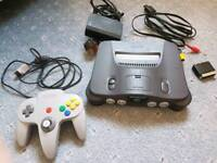 Nintendo 64 Console with 4 games and case