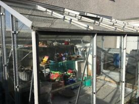 A 10,x 8' Aluminium All Glass Greenhouse