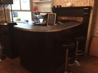 Smart black bar/ counter, excellent condition