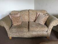 Lovely gold & cream sofa