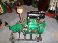 1930s PENTA 2 CYLINER MAGNETO BOAT ENGINE AND GEARBOX, RUNNING!! VINTAGE BOAT
