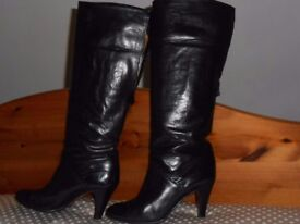 Ladies Black All Leather Boots